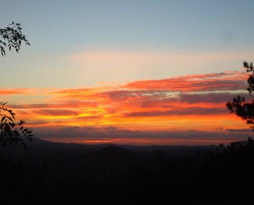 Sunset - Dixon Lake Campout - February 2014